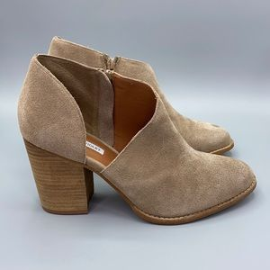 Chelsea & Violet Nicky Suede Side Cut Out Booties
